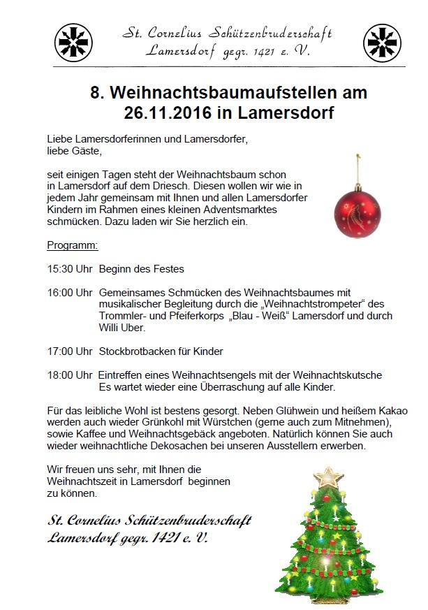 Wann Weihnachtsbaum Aufstellen.Bürgertreff Lamersdorf 8 Weihnachtsbaum Aufstellen